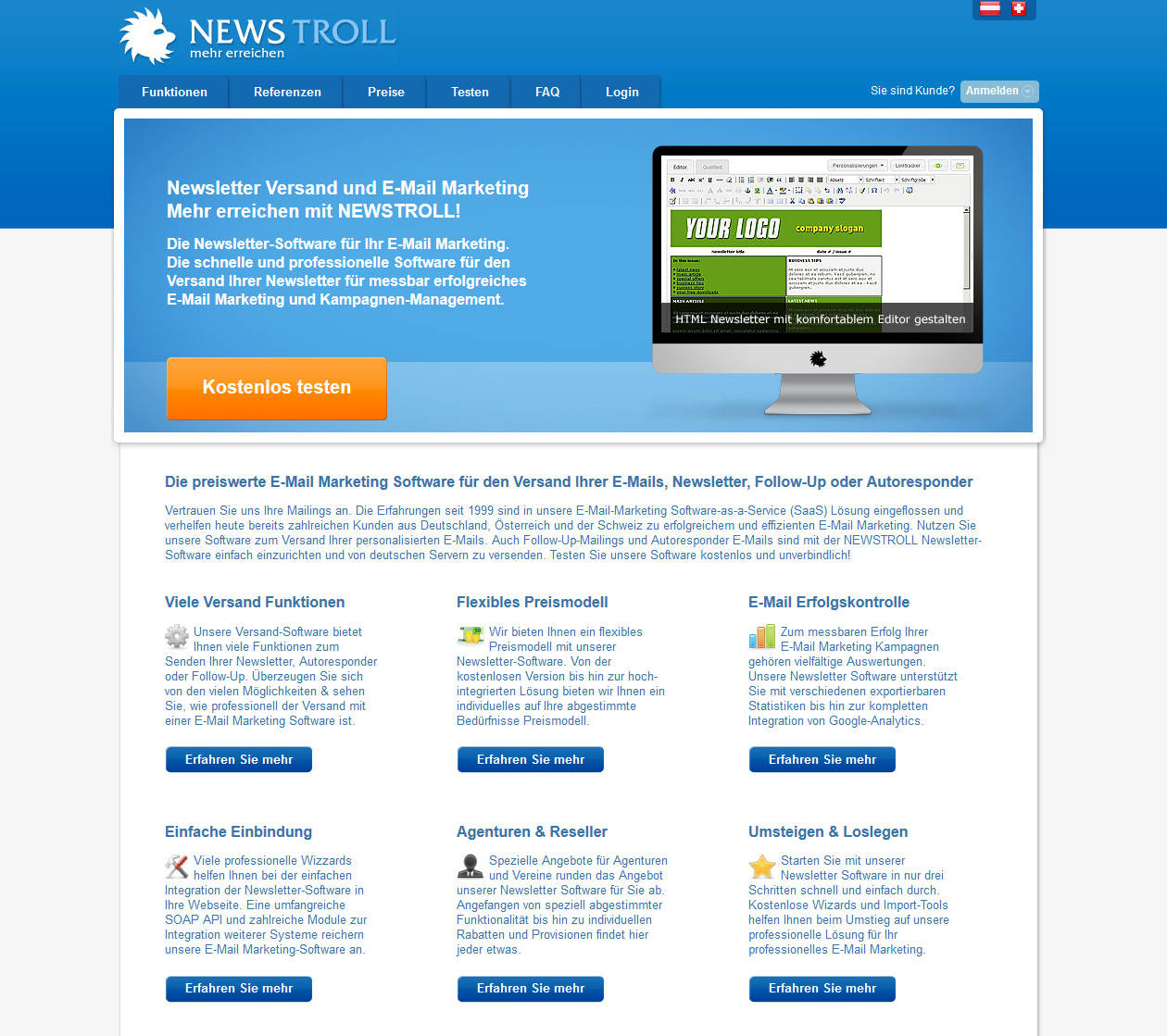 Newstroll Newsletter Versand und E-Mail Marketing Software